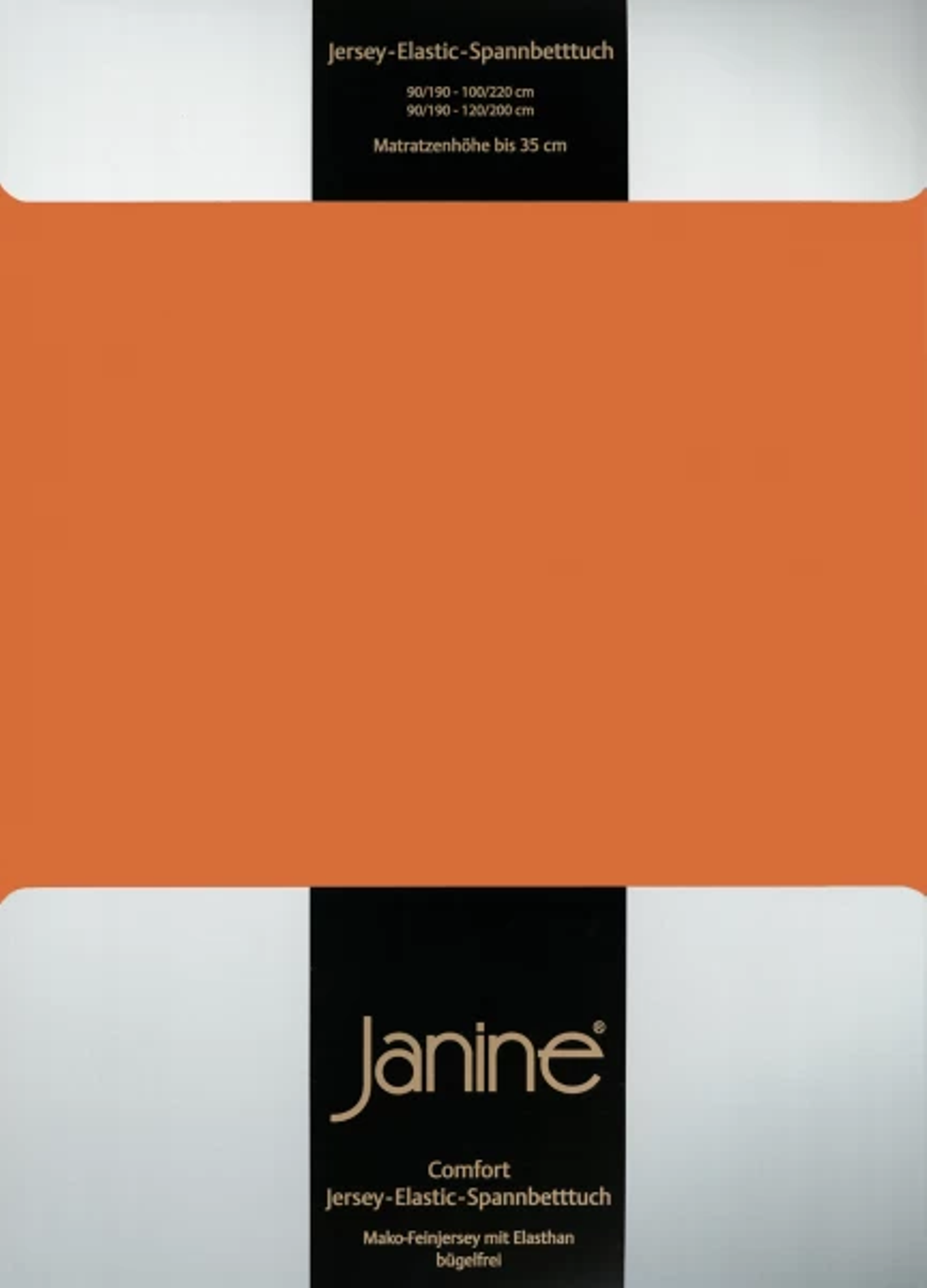 Spannbetttuch Comfort Elastic - rost-orange