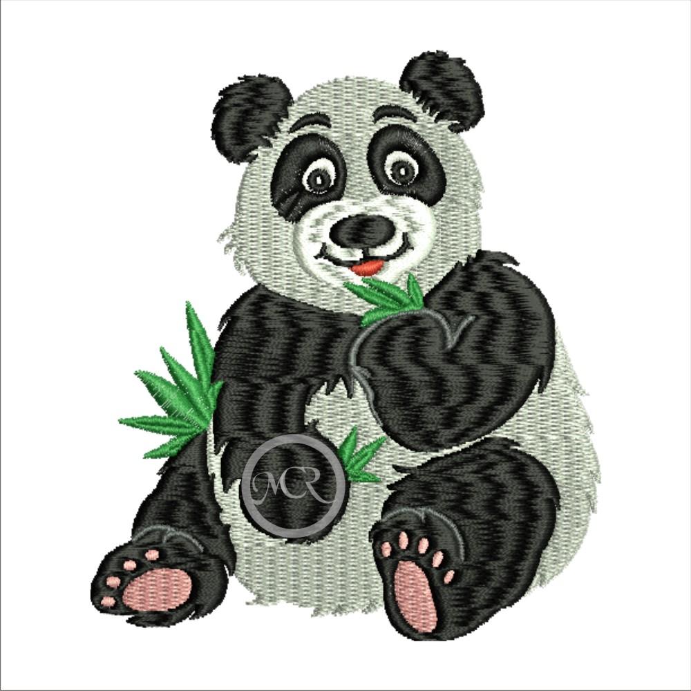 Stickerei Panda auf versch. Frottierwaren