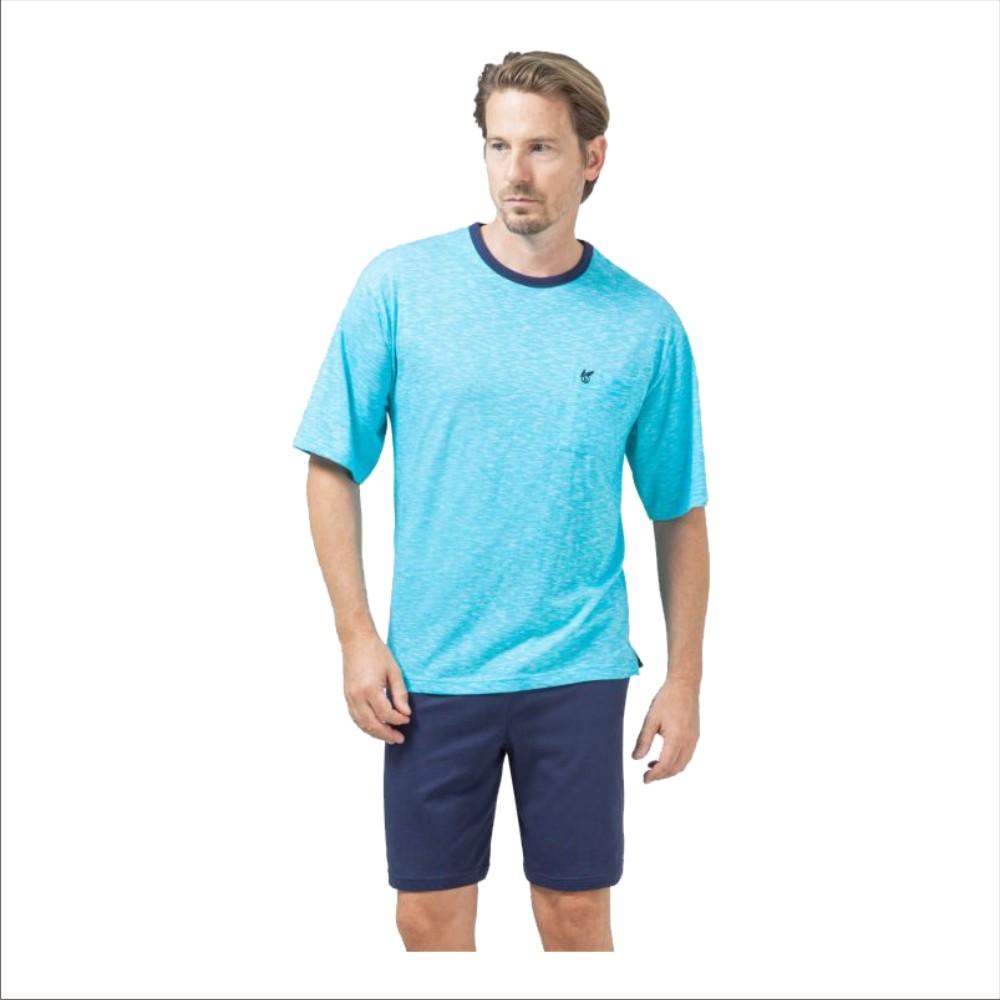 Herren Shorty Premium Cotton 53413 lagune