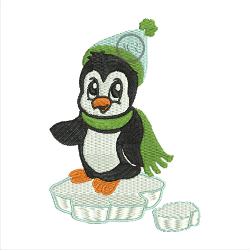 Stickerei Pinguin auf versch. Frottierwaren