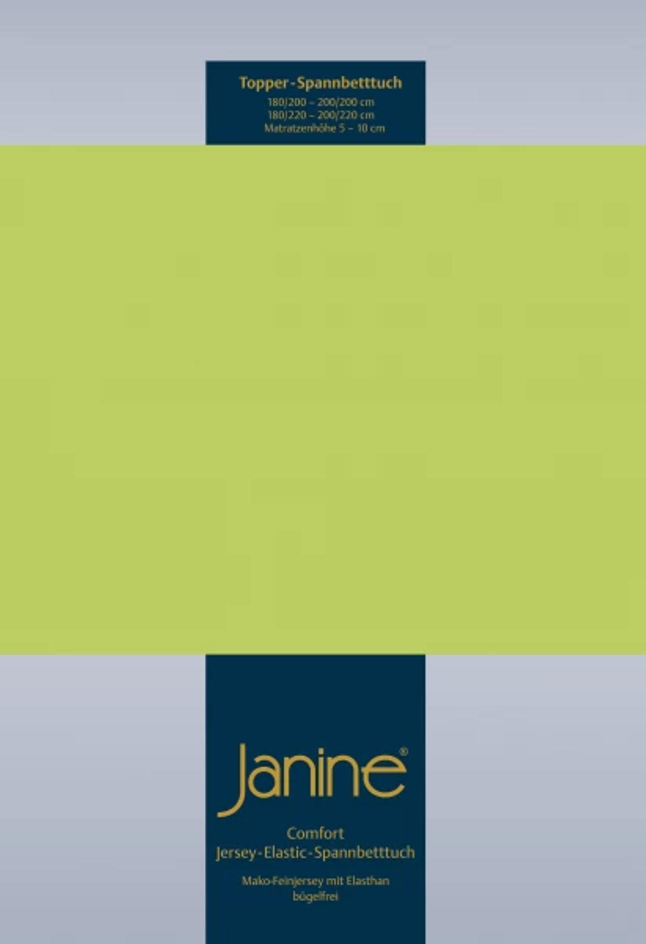 Topper Spannbetttuch Multistretch - apfelgrün