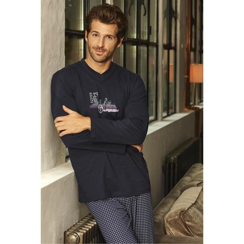 "Herren Pyjama ""Baumwolle"" 6441211"