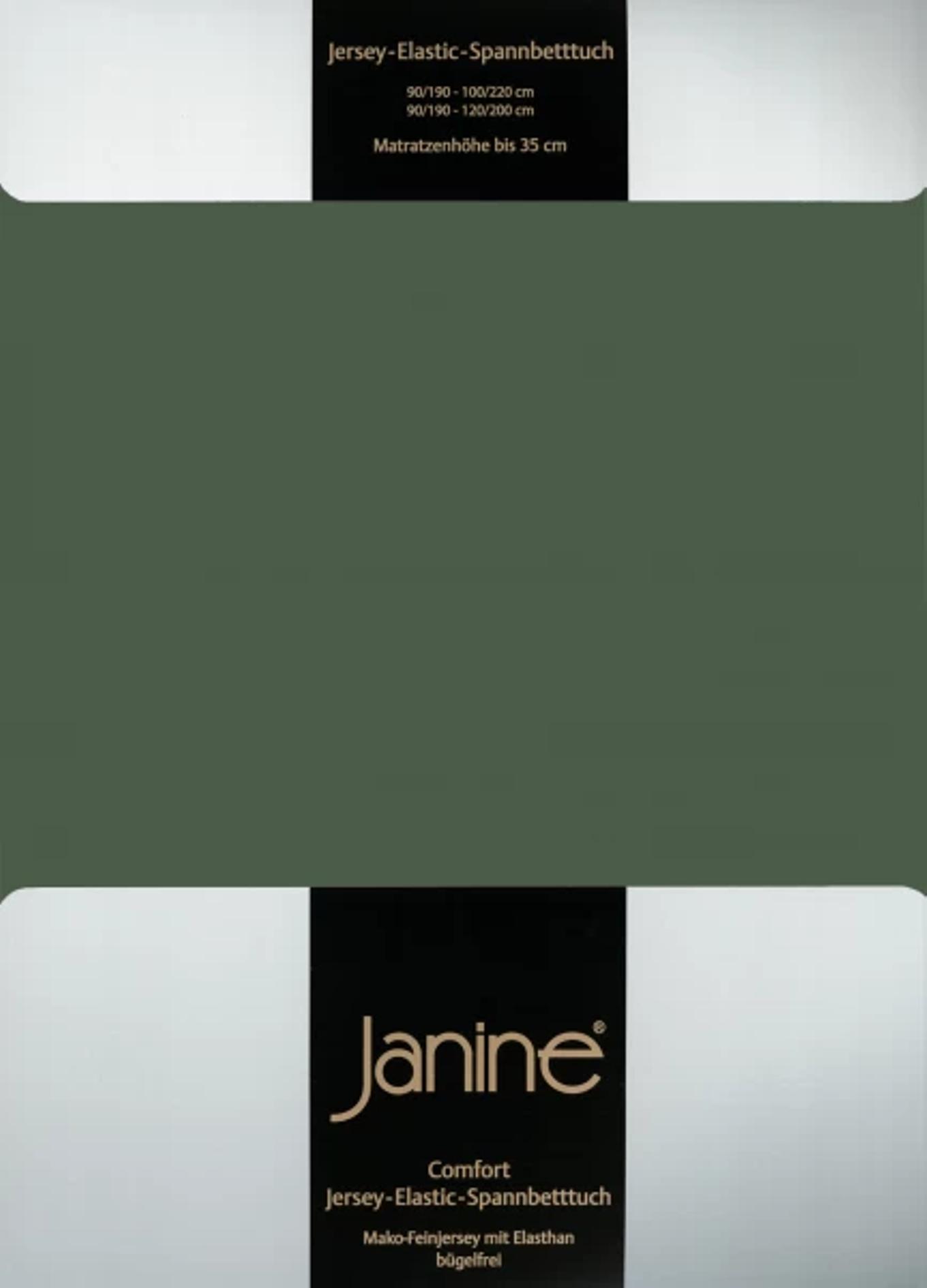 Spannbetttuch Comfort Elastic - olivgrün