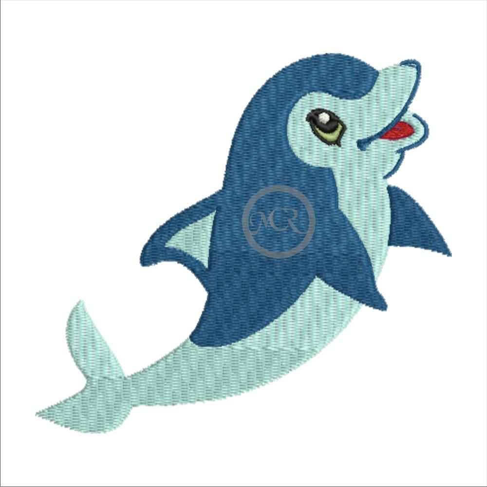 Stickerei Delphin auf versch. Frottierwaren