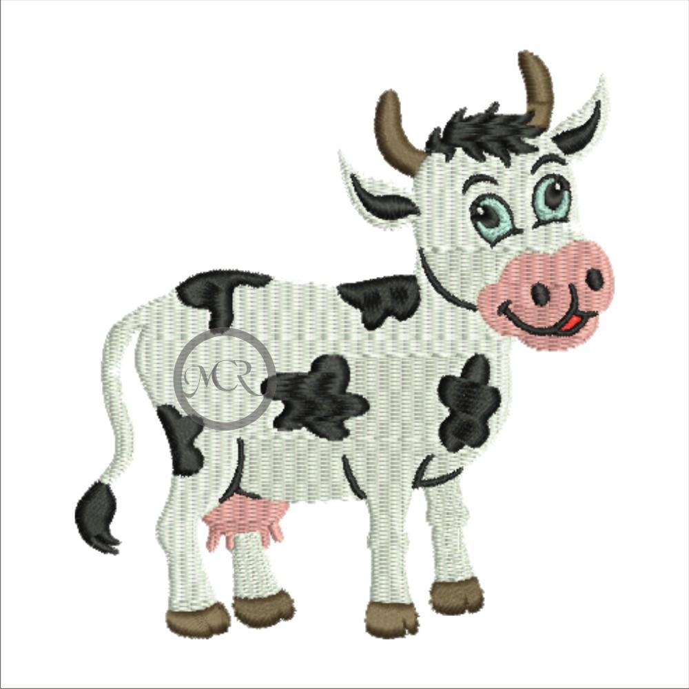 Stickerei Kuh auf versch. Frottierwaren