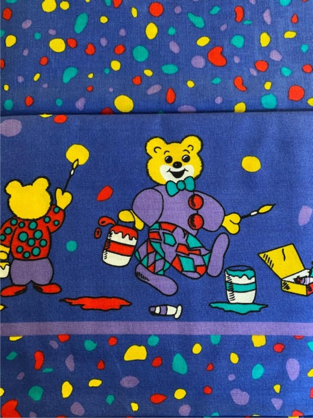 Bettwäsche - Teddy der Maler - blau