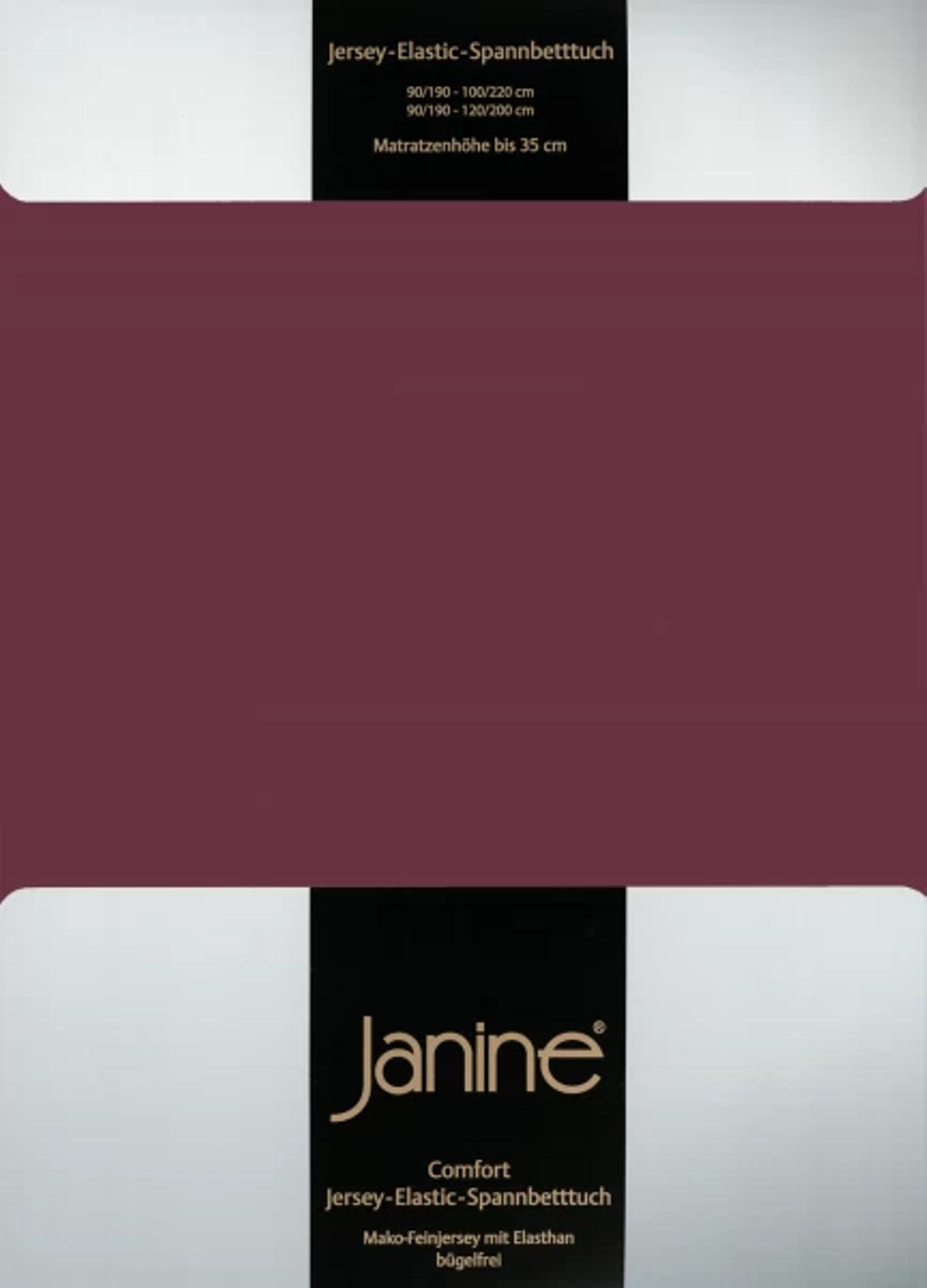 Spannbetttuch Comfort Elastic - burgund