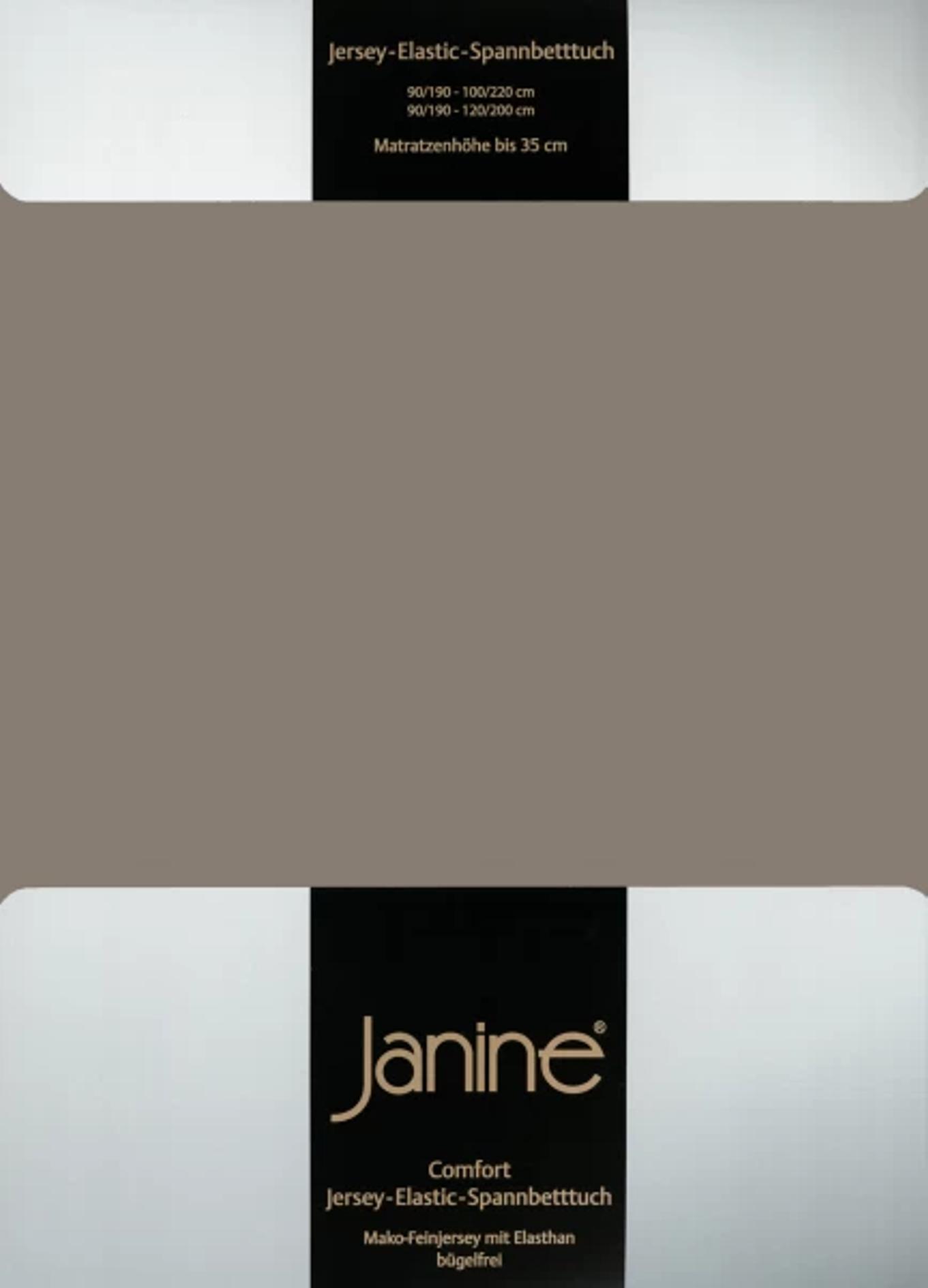 Spannbetttuch Comfort Elastic - taupe