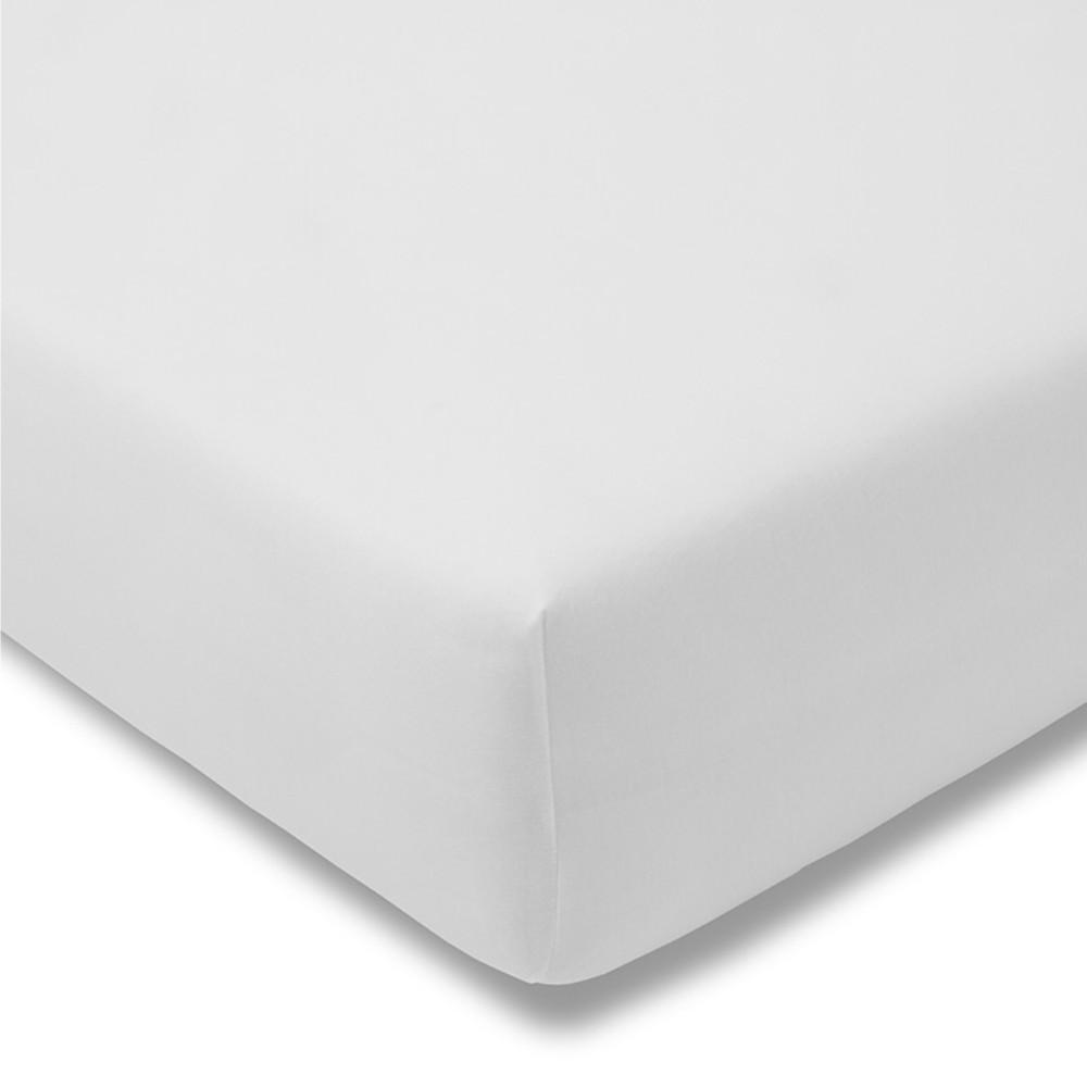 Kinder-Spannbetttuch - Feinjersey 100 weiß
