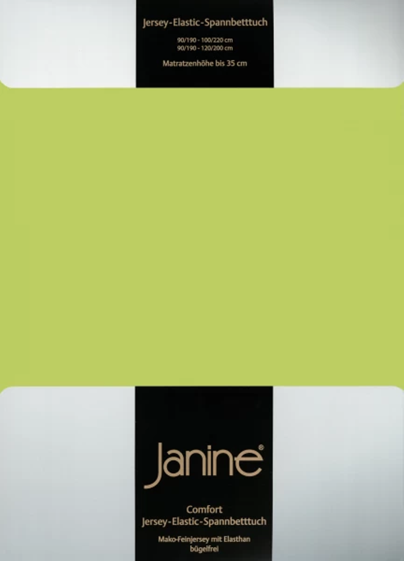Spannbetttuch Comfort Elastic - apfelgrün