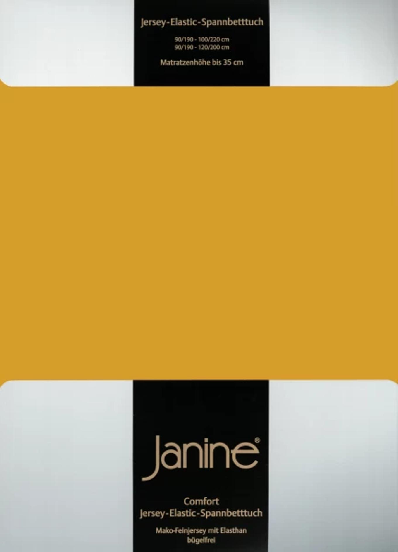 Spannbetttuch Comfort Elastic - honiggold