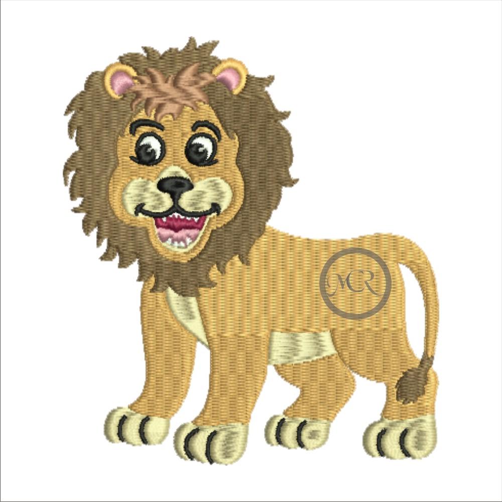 Stickerei Löwe auf versch. Frottierwaren