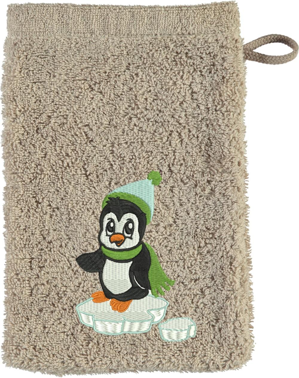Waschhandschuh Pinguin in verschiedenen Farben