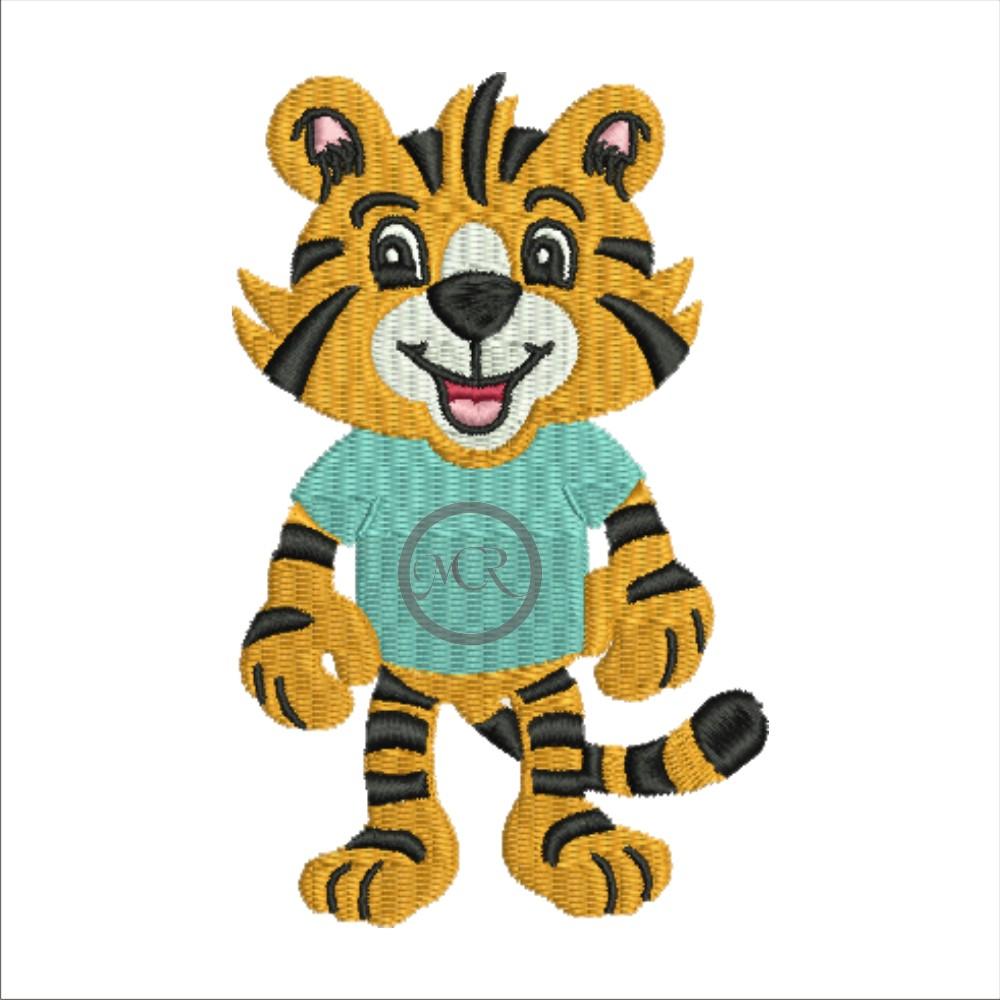 Stickerei Tiger auf versch. Frottierwaren