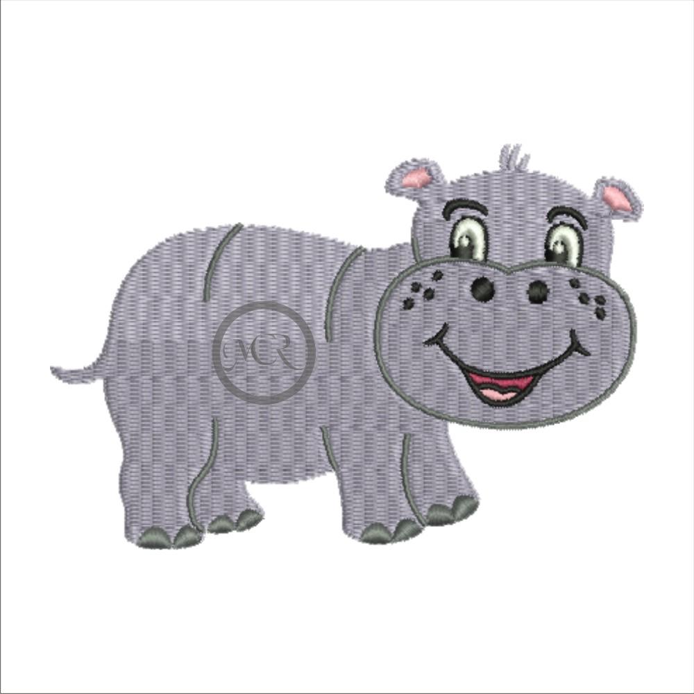 Stickerei Hippo auf versch. Frottierwaren