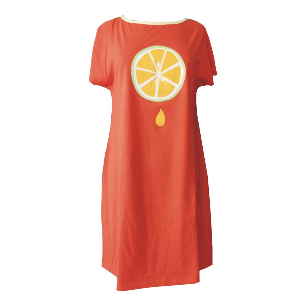 "Damen Nachthemd ""Orange"" 1111001"