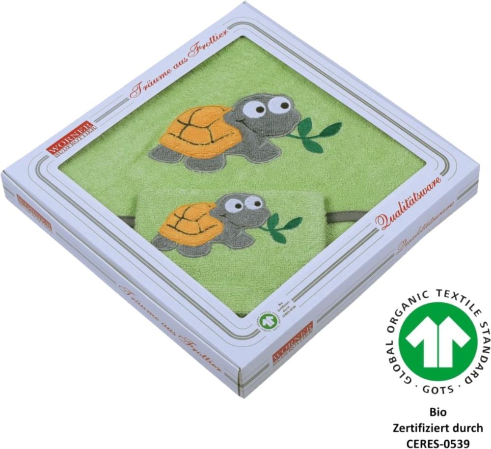 Geschenk-Set 2 tlg. - Schildkröte opalgrün