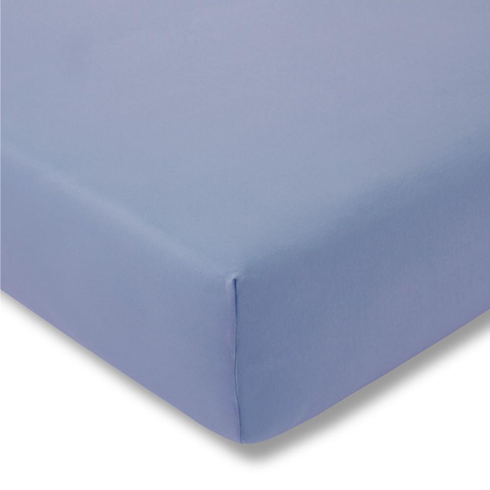 Kinder-Spannbetttuch - Feinjersey 160 hellblau