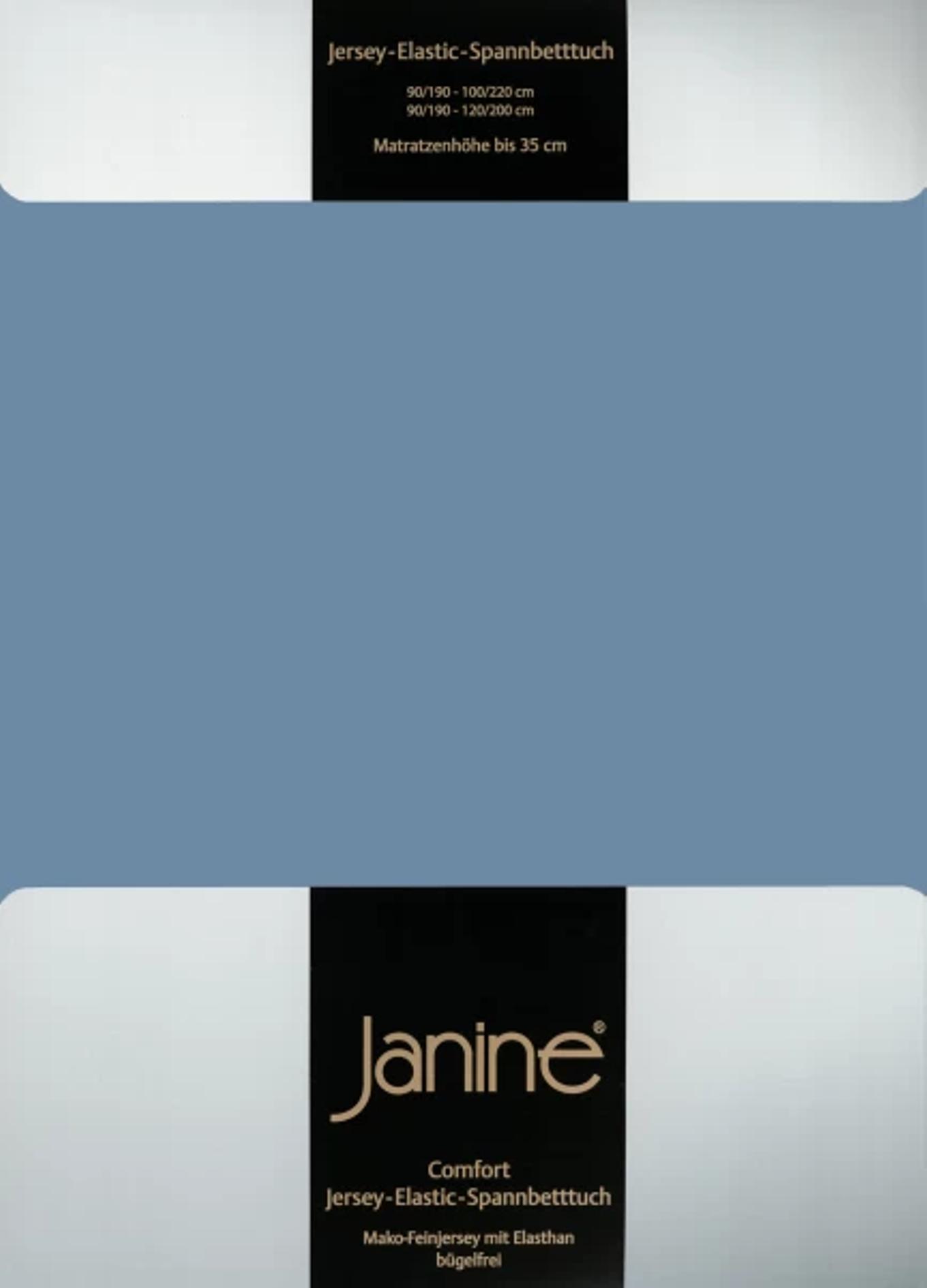 Spannbetttuch Comfort Elastic - denimblau
