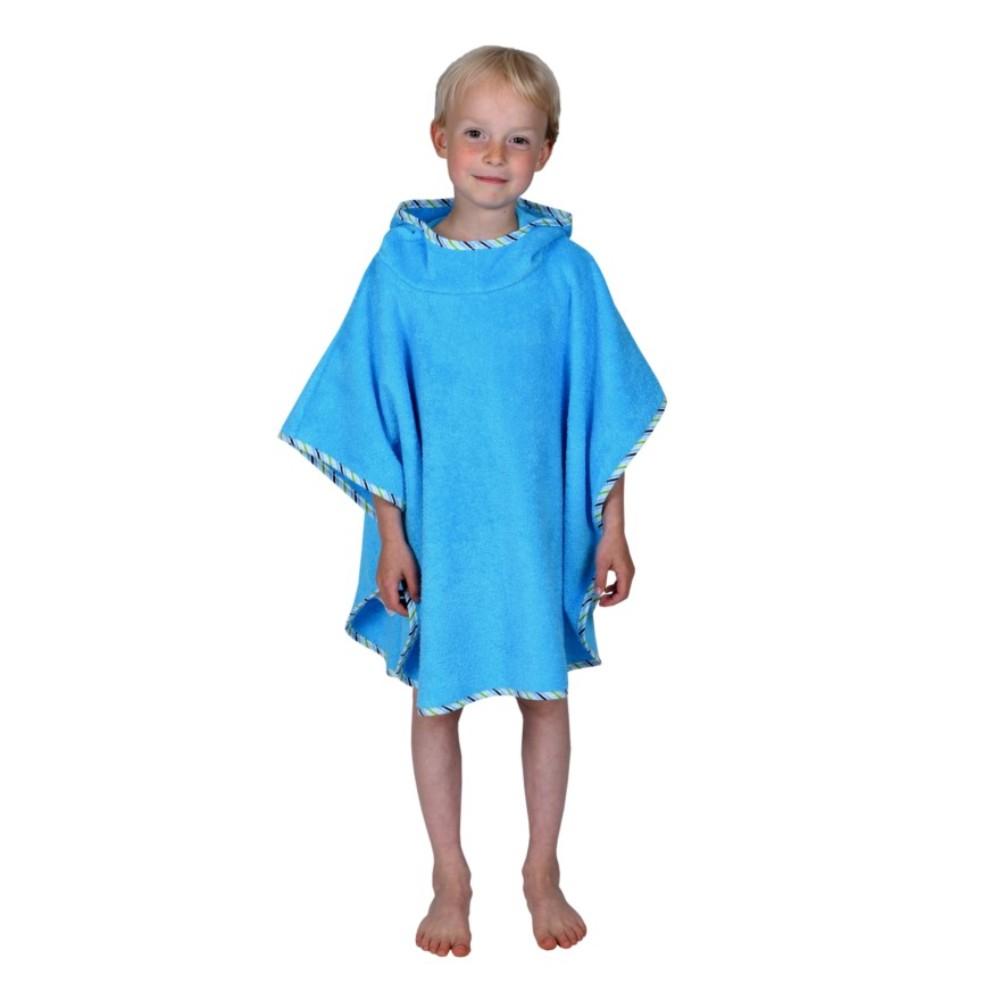 Bade-Poncho Uni blau