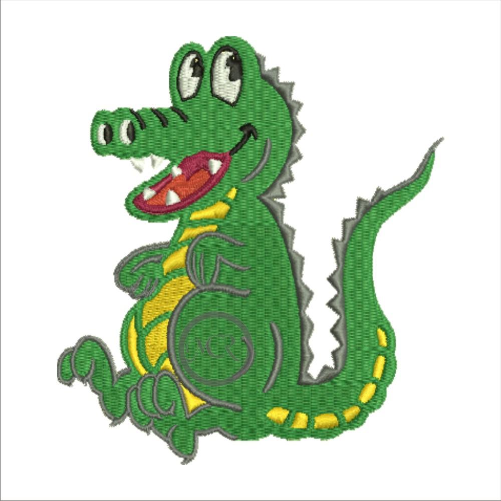 Stickerei Krokodil auf versch. Frottierwaren