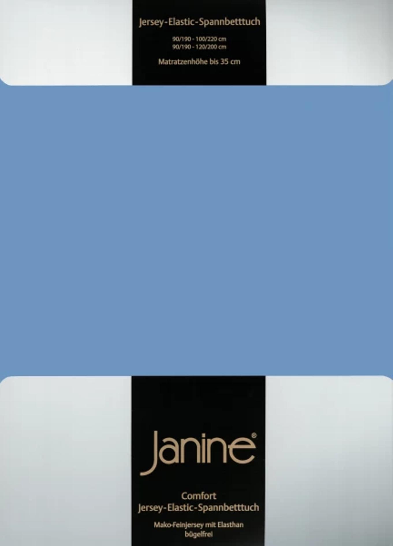 Spannbetttuch Comfort Elastic - blau