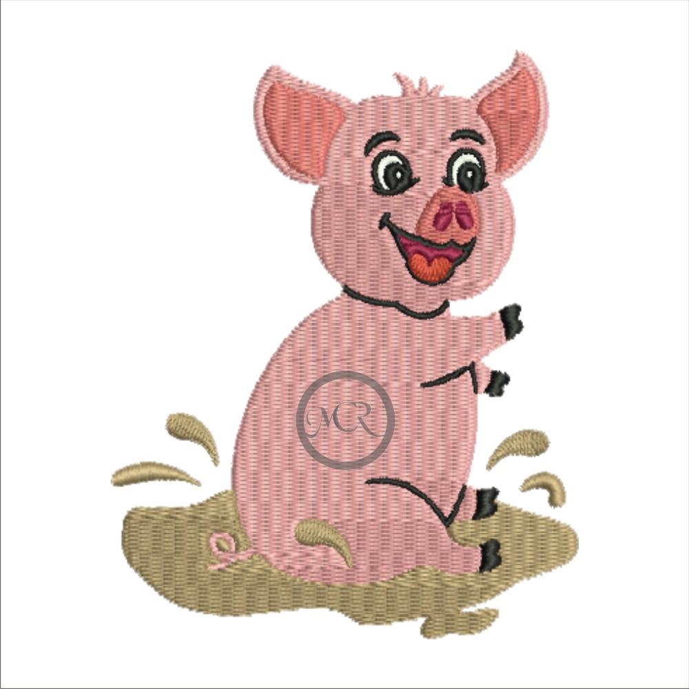 Stickerei Schweinchen auf versch. Frottierwaren